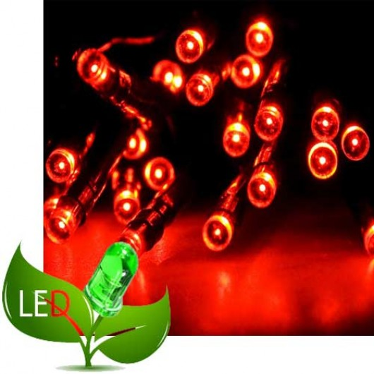 100 Λαμπάκια Led 8 Προγράμματα Πράσινο καλώδιο και Κόκκινο λαμπάκι