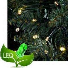 180 Λαμπάκια Led 8 Προγράμματα Πράσινο καλώδιο και Λευκό θερμό φως