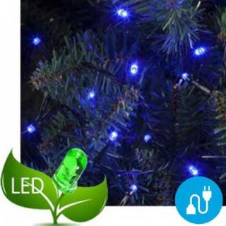 100 Φωτάκια Led Πρόγραμμα & Επέκταση Πράσινο καλώδιο - Μπλε φως