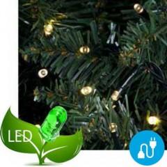 100 Φωτάκια Led Πρόγραμμα & Επέκταση Πράσινο καλώδιο - Θερμό Λευκό φως