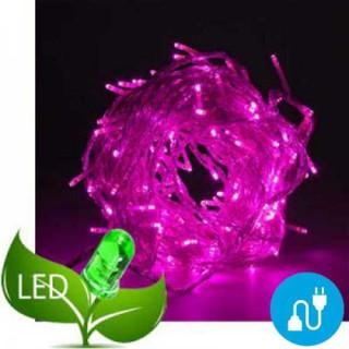 100 Φωτάκια Led Πρόγραμμα & Επέκταση Διάφανο καλώδιο - Μοβ φως