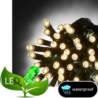 100 Λαμπάκια LED Σιλικόνης με Επέκταση Στεγανά με Λευκό θερμό φως