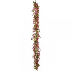 Γιρλάντα χριστουγεννιάτικη με γκι και κόκκινα berries 180cm