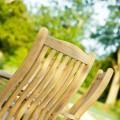 Roble teak Πτυσσόμενη πολυθρόνα κήπου