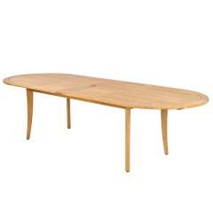 Roble teak ξύλινο τραπέζι κήπου οβάλ 200~290x100cm με επέκταση