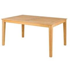 Roble teak τραπέζι ξύλινο παραλληλόγραμμο 150x103cm σταθερό