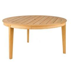 Roble teak τραπέζι κήπου στρογγυλό Ø160cm σταθερό με τρία πόδια