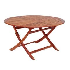 Cornis ξύλινο στρογγυλό Ø140cm πτυσσόμενο τραπέζι κήπου