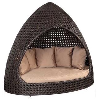 Ocean relax hut κάθισμα κήπου wicker καμπάνα με μαξιλάρια
