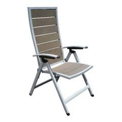 Ferrara πολυθρόνα θέσεων αλουμινίου με ψηλή πλάτη και polywood