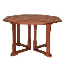 Cornis σπαστό εξάγωνο ξύλινο τραπέζι κήπου 120x120cm