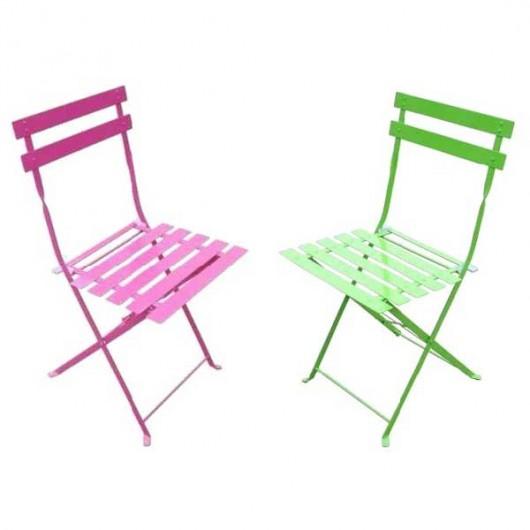 Αντικέ καρέκλα μεταλλική πτυσσόμενη με πηχάκι σε πέντε χρώματα