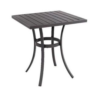 Solano τετράγωνο τραπέζι 70*70cm μεταλλικό σε ανθρακί και λευκό χρώμα