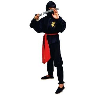 Ninja στολή της Μαυροντυμένης φιγούρας με το καλυμμένο πρόσωπο