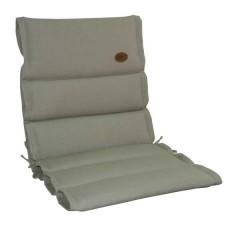Μαξιλάρι χαμηλή πλάτη Μπεζ χρώμα και ανάγλυφο ύφασμα