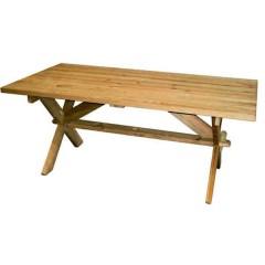 Farmer τραπέζι κήπου μοναστηριακό από ξύλο πεύκου