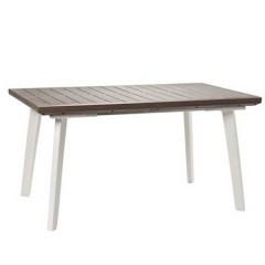 Harmony τραπέζι με επέκταση από ρητίνη με φινίρισμα απομίμησης ξύλου