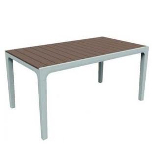 Harmony τραπέζι από ρητίνη με φινίρισμα απομίμησης ξύλου