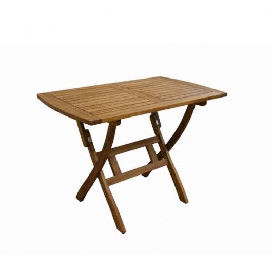 Παραλληλόγραμμο Πτυσσόμενο Τραπέζι 100x60 cm ξύλο ακακίας