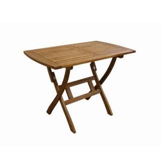 Παραλληλόγραμμο Πτυσσόμενο Τραπέζι 120x70cm από ξύλο ακακίας