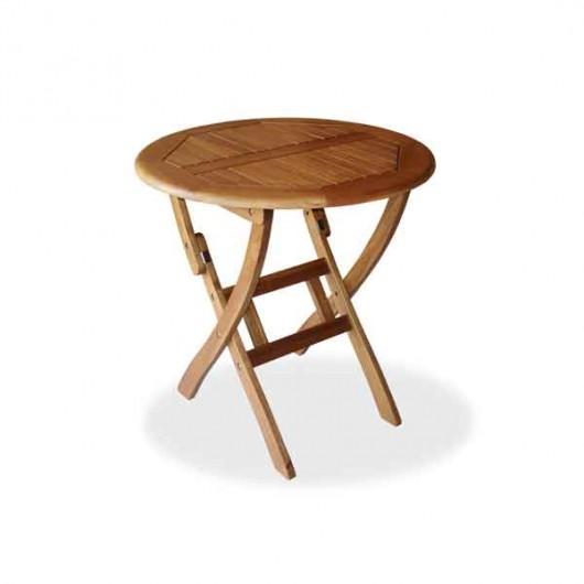 Ροτόντα Ø 70cm πτυσσόμενο τραπέζι από  ξύλο ακακία