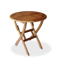 Ροτόντα Ø  90cm πτυσσόμενο τραπέζι από ξύλο ακακία