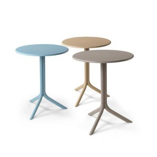 Spritz στρογγυλό τραπέζι σε οχτώ χρώματα από ρητίνη πολυπροπυλενίου