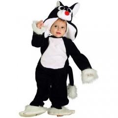 Γατούλης μαύρος αποκριάτικη στολή για μωράκια