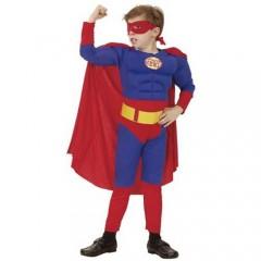 SuperBoy στολή Σούπερ ήρωας για αγόρια με ενισχυμένο θώρακα