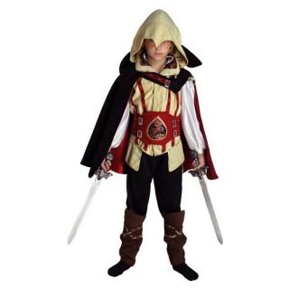 Assasino Κόκκινος στολή για αγόρια Assassin's Creed