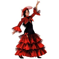 Χορεύτρια Κάρμεν στολή για κορίτσια με εντυπωσιακό μακρύ φόρεμα με μπολερό