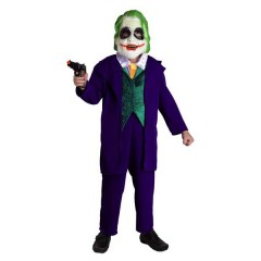 Joker στολή για αγόρια Κλόουν ο Βασιλιάς του Εγκλήματος με το χαιρέκακο χαμόγελο