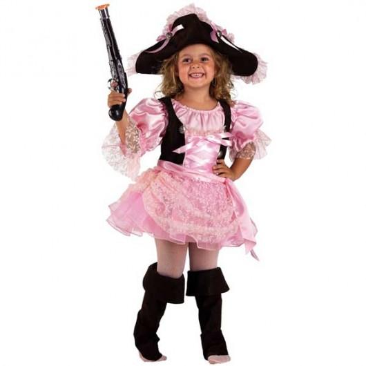 Πειρατίνα Σταρ ροζ στολή για μικρά κορίτσια