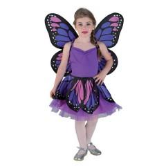 Πεταλούδα μοβ στολή για κορίτσια Μαριπόζα