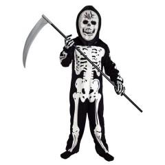 Σκελετός στολή για αγόρια τρομακτική με μάσκα και κουκούλα