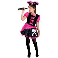 Sweet Pirate στολή για κορίτσια η γλυκιά πειρατίνα με κοντή φουστίτσα