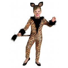 Τιγράκι στολή φόρμα με ουρά για κορίτσια