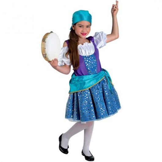 Τσιγγάνα Εσμεράλδα στολή για κορίτσια ατίθασα που χορεύουν σαγηνευτικά