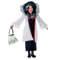 Βαρώνη ντε Βιλ στολή για κορίτσια η κακιά Κρουέλα