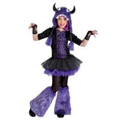 Wild Monster στολή για κορίτσια το Άγριο Τερατάκι furby μοβ με γκέτες
