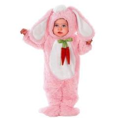 Λαγουδάκι ροζ λούτρινη στολή για μωράκια