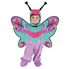 Πεταλουδίτσα μοβ με φτερά στολή για μωράκια