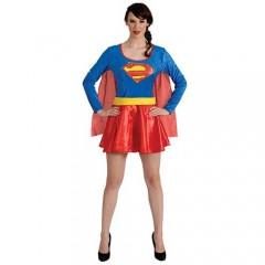 Superwoman γυναικεία στολή ενηλίκων με μπέρτα
