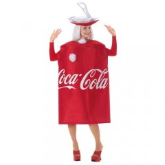 Coca Cola αστεία στολή αναψυκτικού για ενήλικες