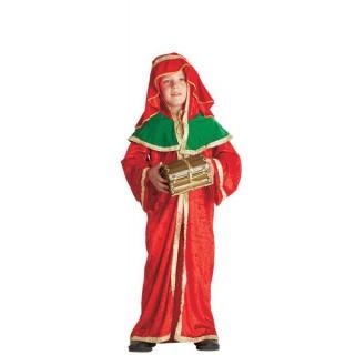 Παιδική στολή Μάγος με τα δώρα κόκκινος