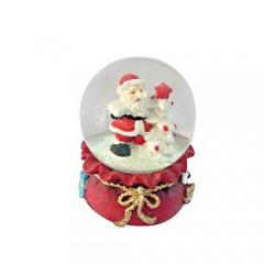 Χιονόμπαλα Santa 4,5cm σε βάση πουγκί