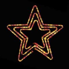 Φωτιζόμενο Αστέρι διπλό 60cm πρόγραμμα πολύχρωμο