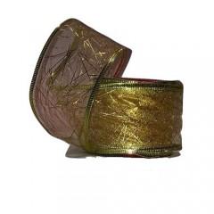 Κορδέλα 9m Οργάντζα χρυσή με σχέδια
