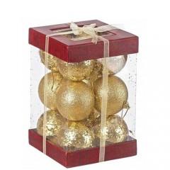 Σετ  Χρυσές Μπάλες 12 Τμχ. 8cm