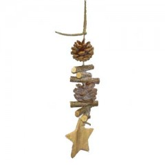 Στολίδι με φυσικά υλικά & αστεράκι 35cm